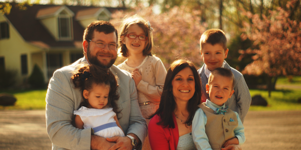 Layton Field, Ph.D., and family